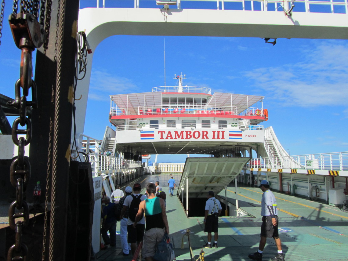 Tambor Ferry Walking on-Puntarenas