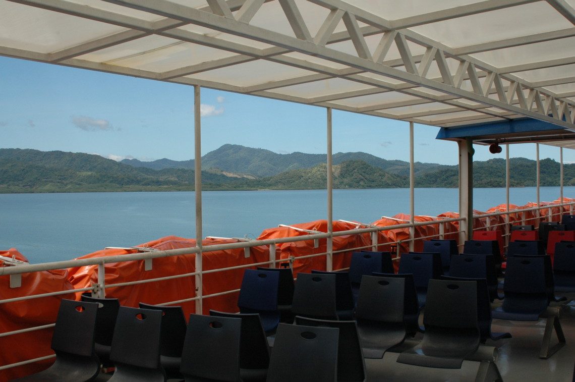 ferry seats with view to Paquera