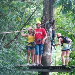 This photo was taken by the Canopy Tour in Montezuma, Costa Rica
