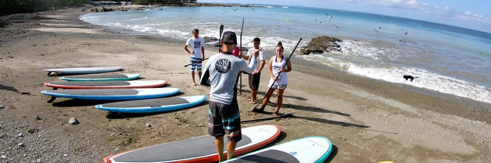 beginner sup class in Costa Rica