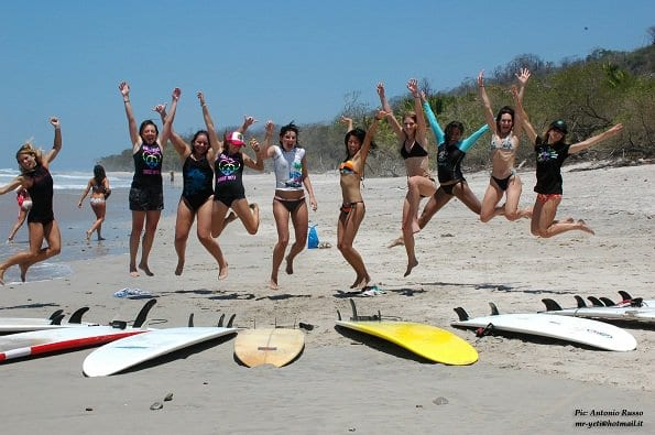 Girls Costa Rica Surf Camp - Jumping for Joy